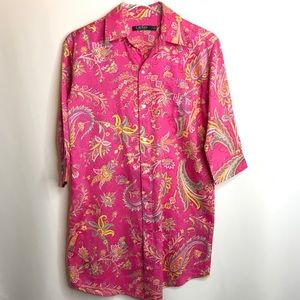 Lauren Ralph Lauren Pink Paisley Night Shirt Small
